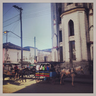 Pferdekutsche in Santa Clara