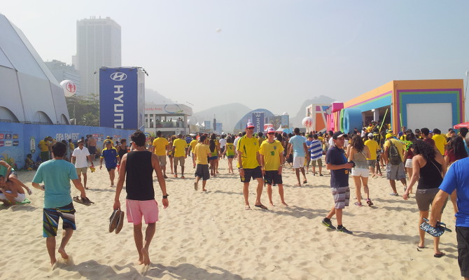 Am Strand von Rio