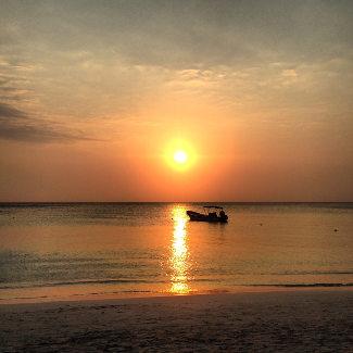 Sunset an der West Bay