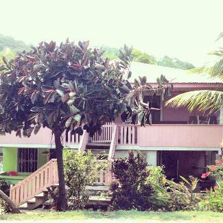 Holzhaus auf Roatán