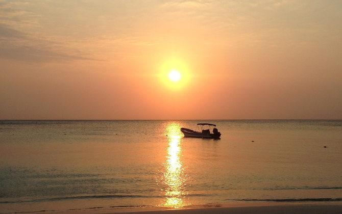Sunset über der Karibik