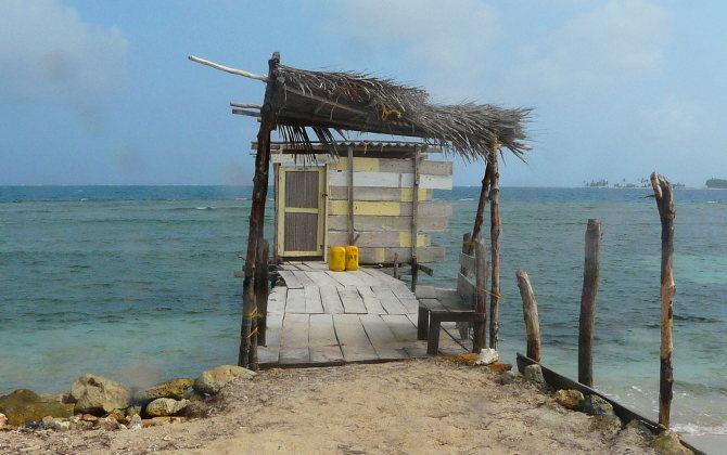 Freiwassertoilette auf San Blas