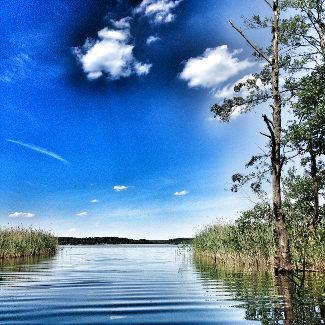 Einfahrt in den Zotzensee