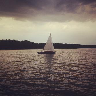 Segelboot auf dem Useriner See