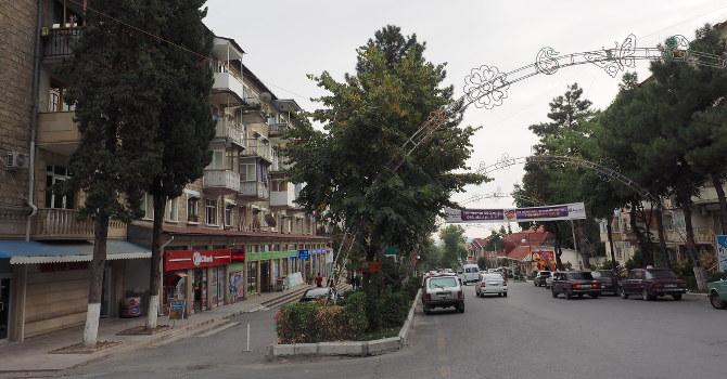 Strasse in Sheki