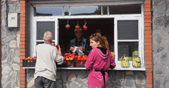 Gemüseverkauf in Sheki
