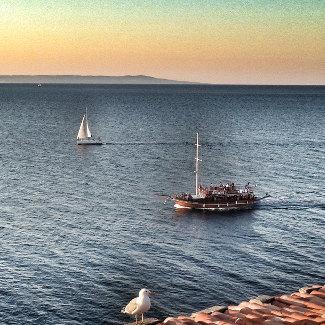Sonnenuntergang überm Schwarzen Meer