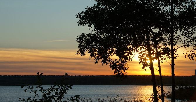Sonnenuntergang über den Rederangsee