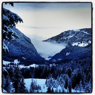 Tannheimer Tal im Nebelschleier