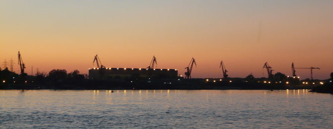 Sonnenuntergang über Tulcea
