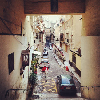 Straße in Valletta