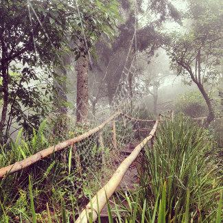 Wanderweg auf dem Boqueron Vulkan