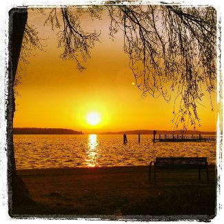 Sonnenuntergang über der Müritz
