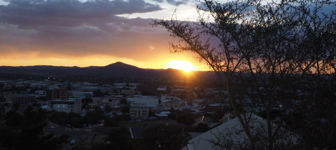 Sunset über Windhoek
