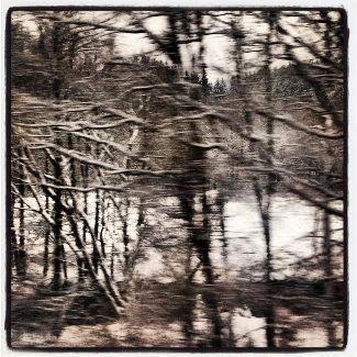 Winterlandschaft aus dem ICE