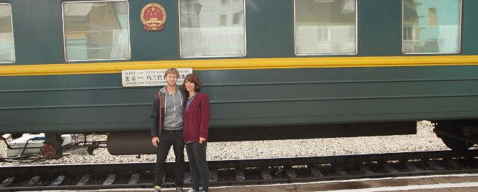 Zug Nummer 4 auf der Transmongolischen Strecke
