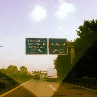 Autobahn Richtung Bonn