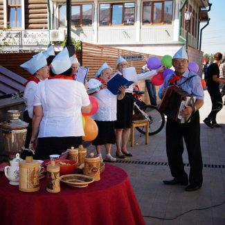 Russen beim Musizieren