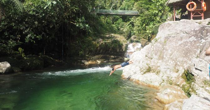 Bad in der Wayuso Laguna
