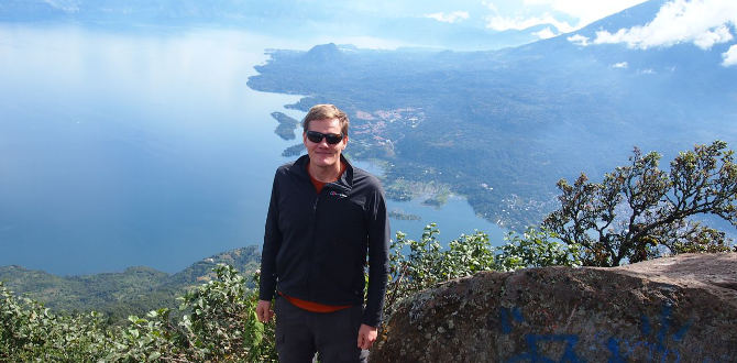 Patrick auf den San Pedro Vulkan