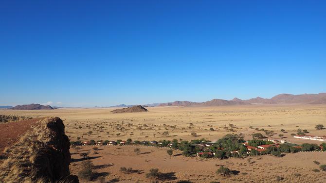 Blick über die Weite in der Namib