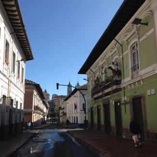 In der Altstadt von Quito