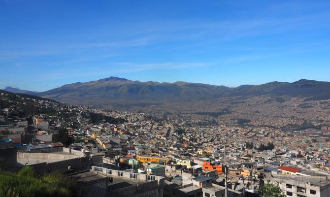 Blick über den Süden Quitos