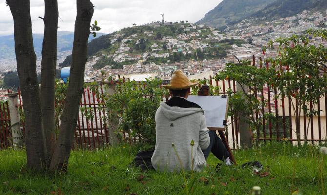 Maler im Parque Itchimbia