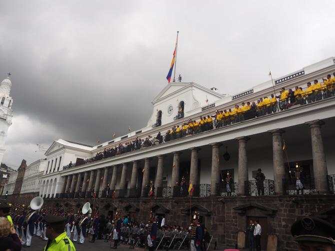 Der Präsidentenpalast in Quitos Altstadt