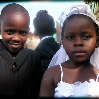 Ruandische Kinder am Kivusee