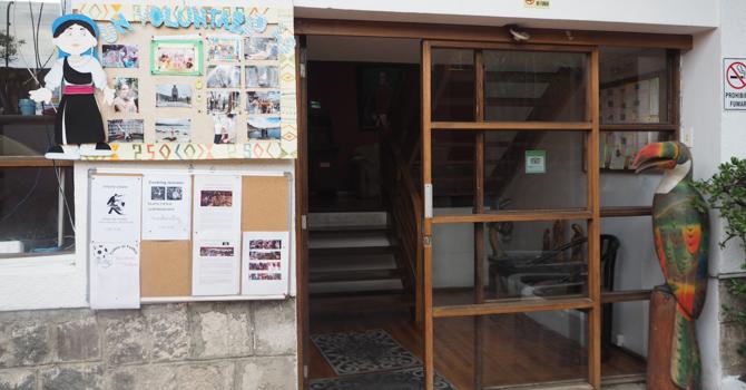 Eingang zu unserer Sprachschule Simon Bolivar