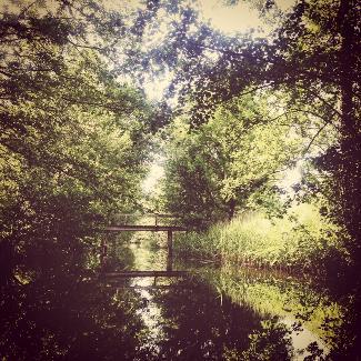 Brücke über der Havel hinter Blankenförde