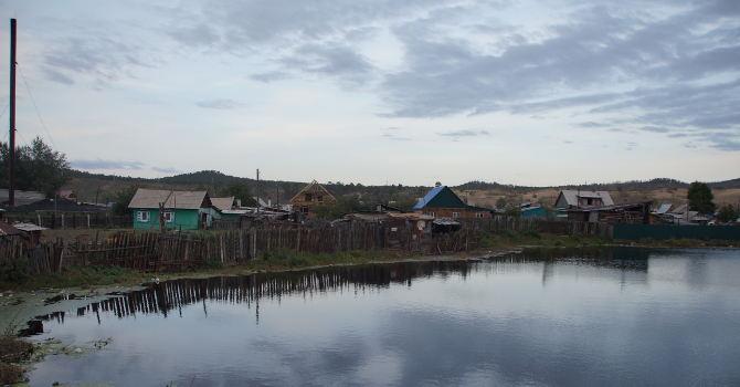 russischer Grenzort Nauschki