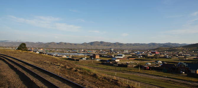 Ulaanbaatar aus dem Zugfenster