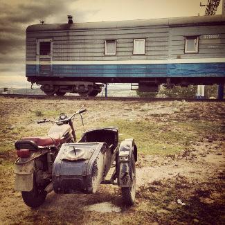 Verlassen an der russische Grenze