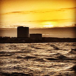 Letzter Sonnenuntergang 2014 über der Ostsee