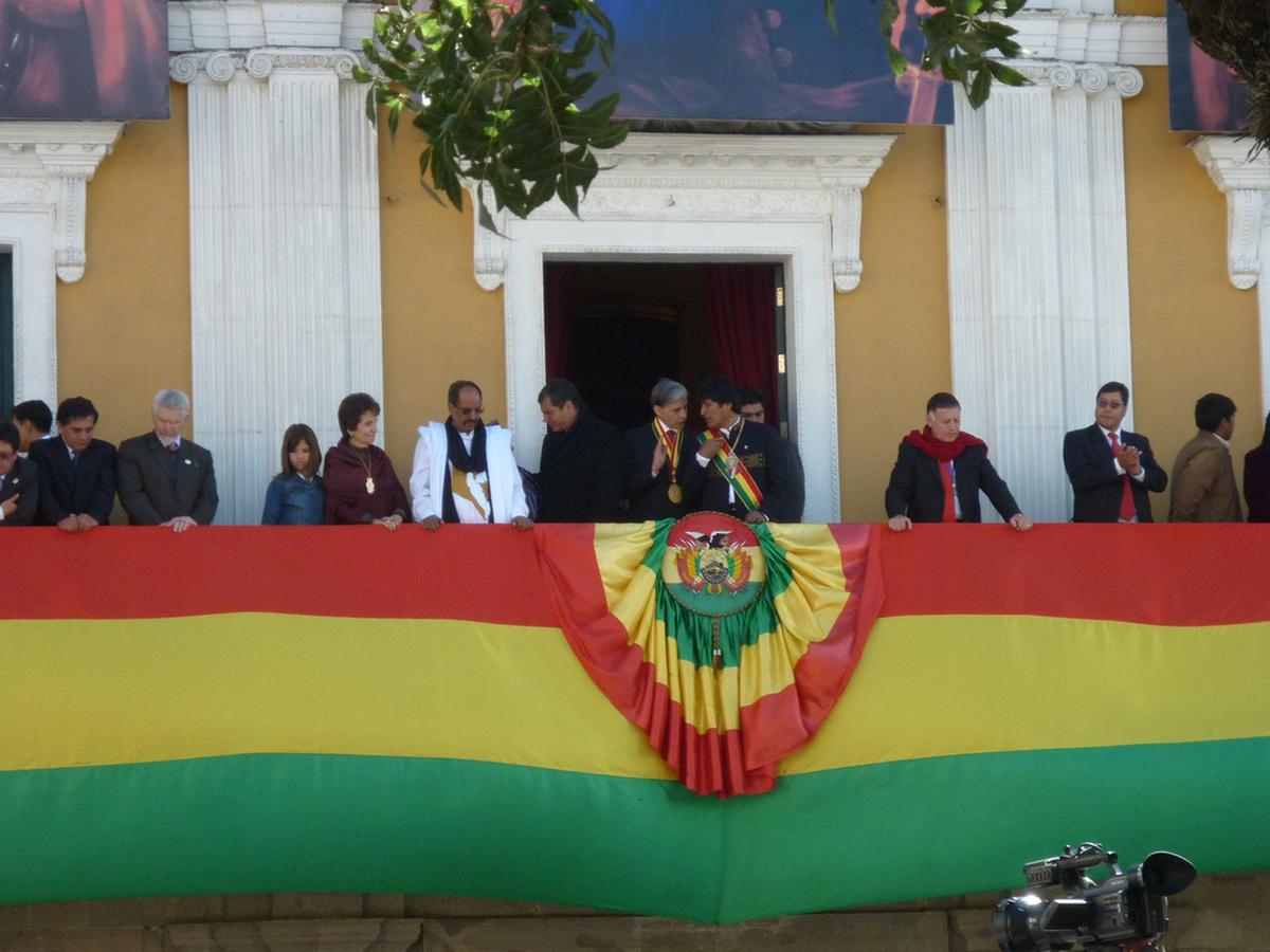 Amtseinführung Evo Morales