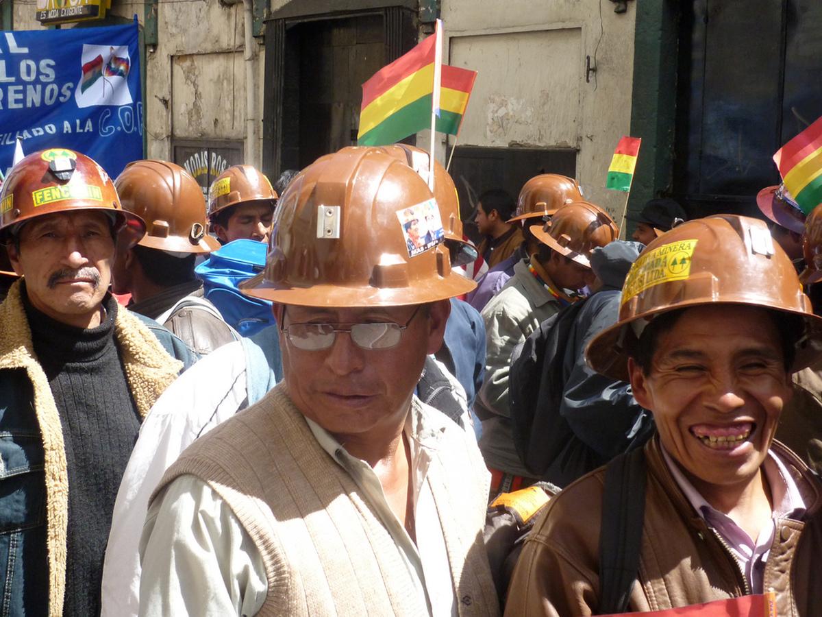 Bergarbeiter in La Paz