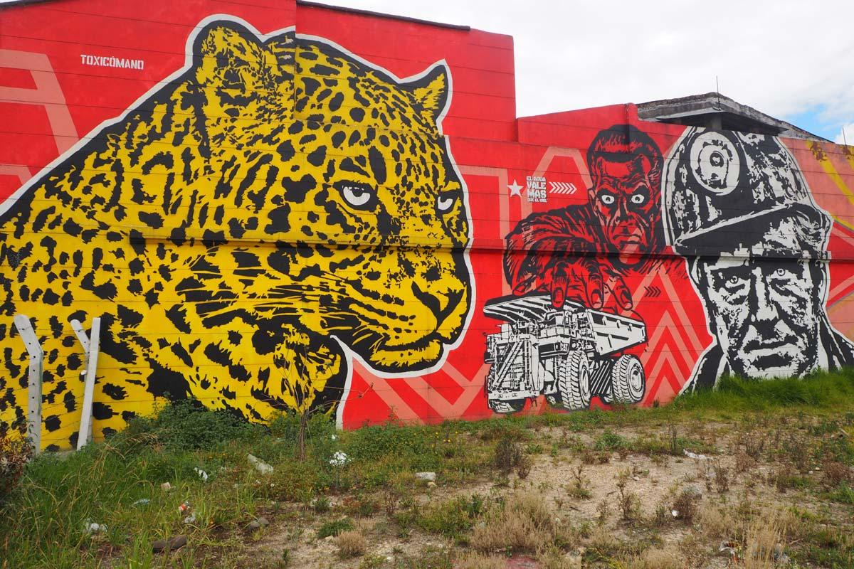 Graffiti in Bogota, Kolumbien