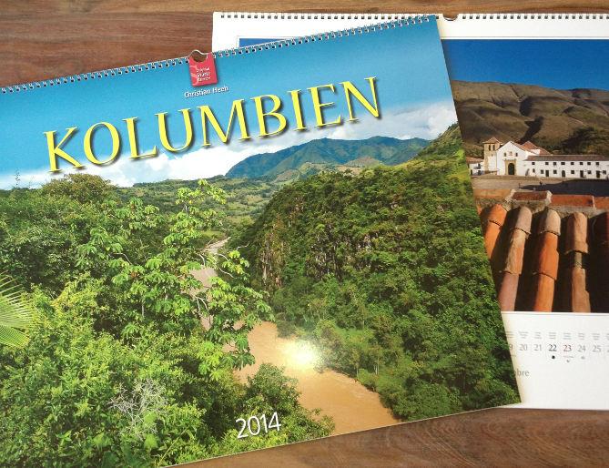 Wandkalender Kolumbien 2014