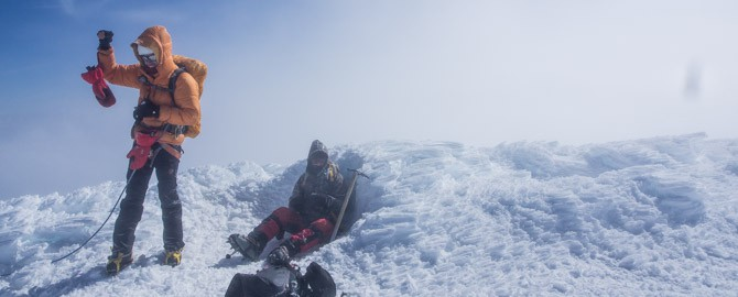 Auf dem Gipfel des Cotopaxi